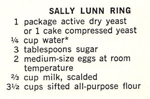 Sally Lunn recipe