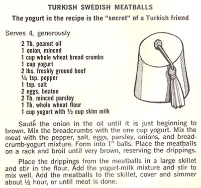 Turkish Swedish Meatballs recipe