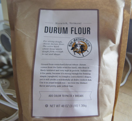Durum flour package