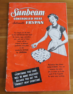 Sunbeam Controlled Heat Frypan cookbook
