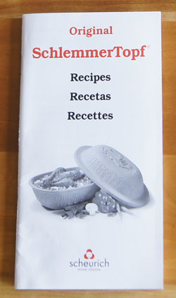 Original SchlemmerTopf Recipes cookbook