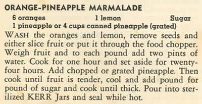 Orange-Pineapple Marmalade recipe