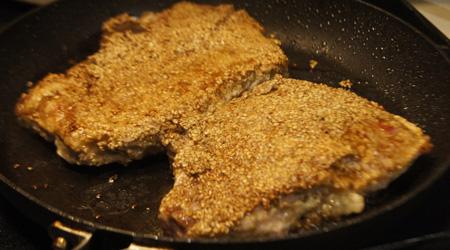 Sesame Seed Pork Chops