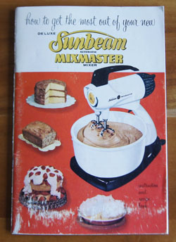 Sunbeam Mixmaster cookbook