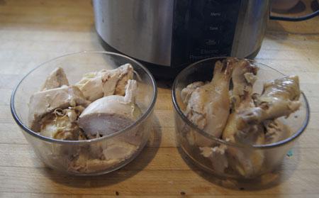 pressure cooked chicken