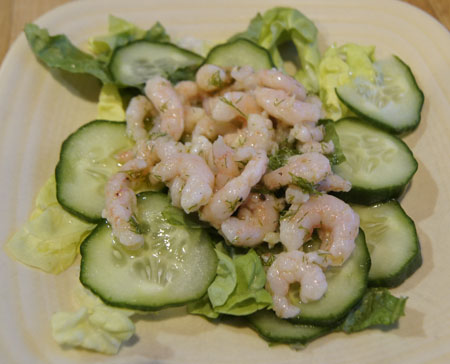 Dilled Shrimp and Greens