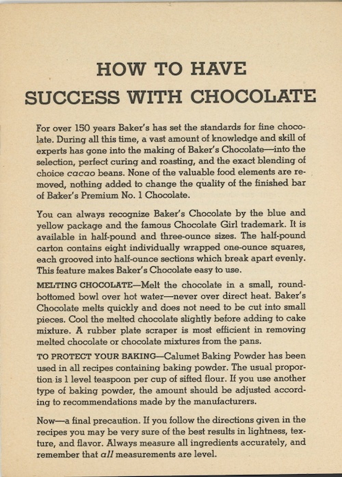 success with chocolate