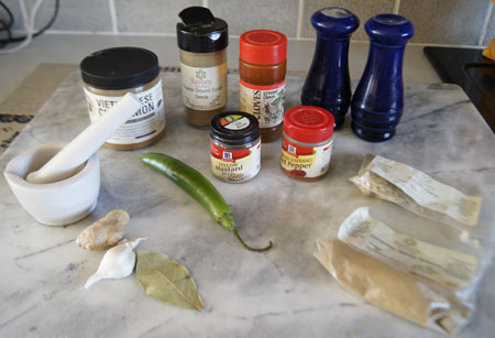 Chicken Coconut Curry ingredients