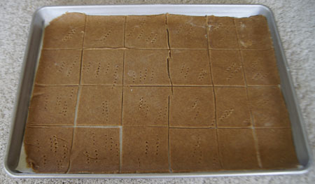 graham crackers in pan