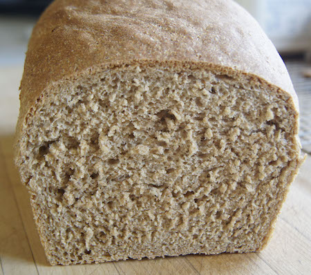 rye bread loaf cut