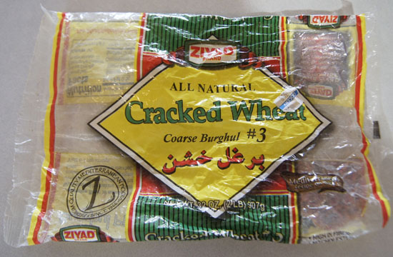 package of cracked wheat
