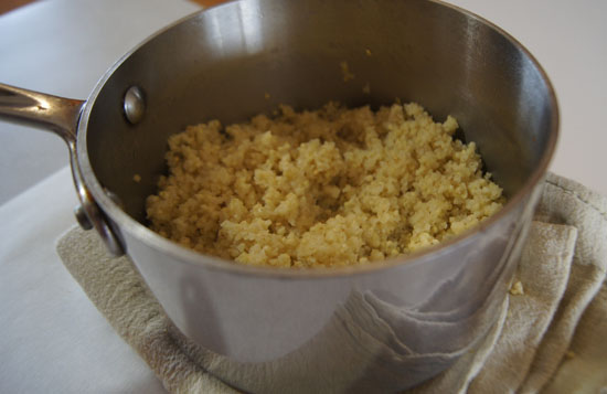 fluffy cooked millet